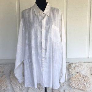 🆕Tommy Bahama long sleeve linen ecru shirt